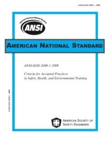 ansi-training-standard
